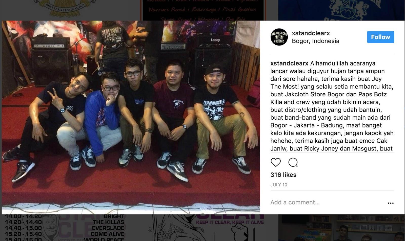 Stand Clear, Keep it Clear, Keep Bogor Straight Edge